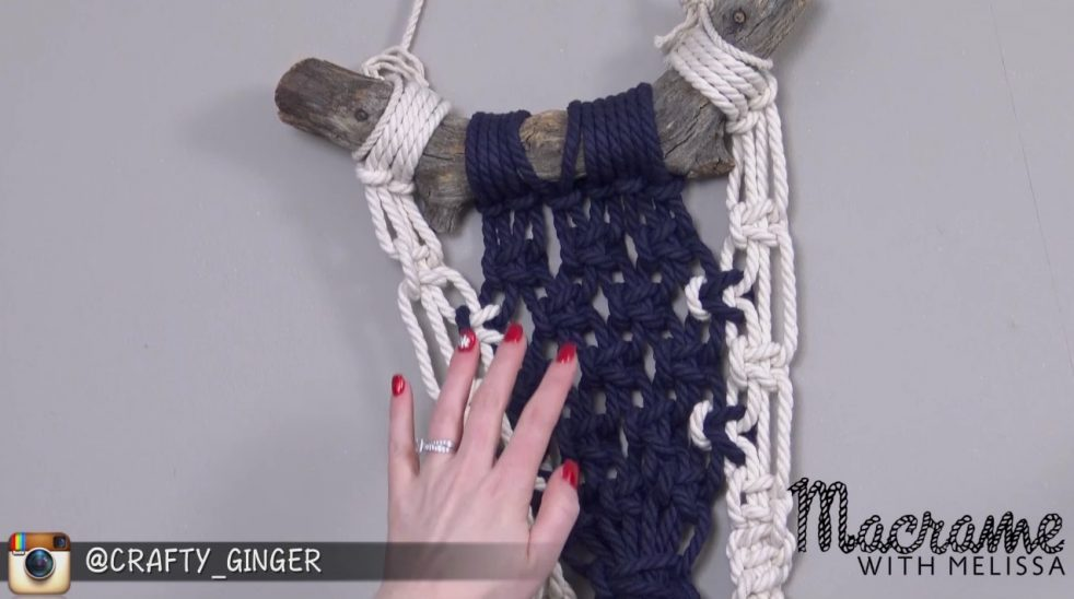 DIY Beginner Macrame Tutorial: Two Toned Wall Hanging with Crafty Ginger